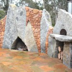 Rock work, including rock walls, custom rock structures, fireplaces & ovens & slate paving by Ian Evans Creative Landscapes