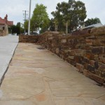 Castlemaine Slate walling and paving