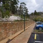 Yandoit Sandstone wall 146 meters long