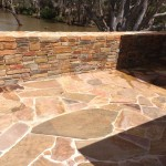 Yandoit Sandstone walls and Castlemaine Slate paving