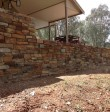 Residential stone wall