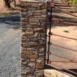 Stone gate pillar