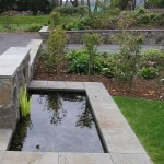 Compact rectangular water feature