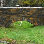 Stone archway from Wistow walling stone