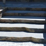 BAM stone sawn Bluestone steps with natural edge