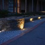 LED strip lights under steps and up lights